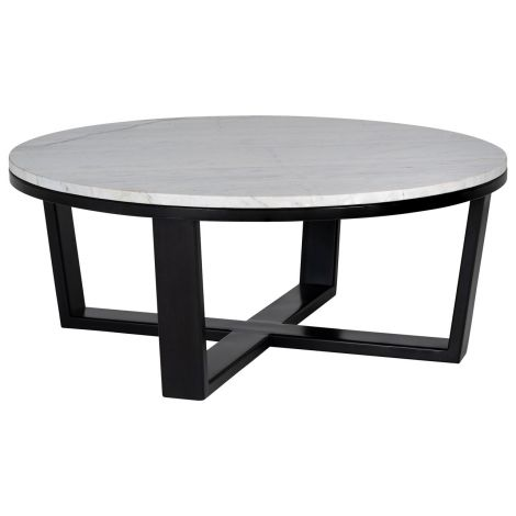 Table basse Lexington s90cm - blanc/noir