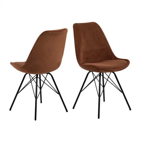 Lot de 2 chaises Erin - cuivre