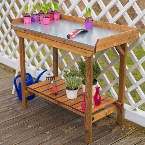 Table de rempotage Fleury - brun
