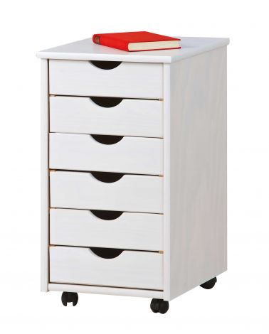 Caisson à tiroirs Lena - blanc
