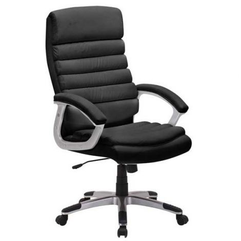 Chaise de bureau 'Kennedy' PU Noir (1c)