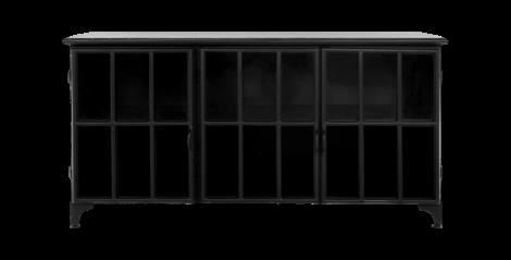 Crédence Manhattan - métal / verre - noir
