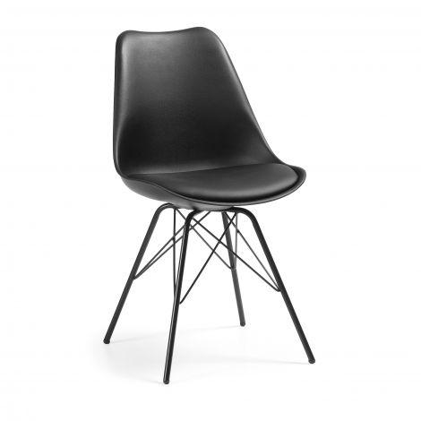 Lot de 2 chaises Ralf métal/plastique - noir