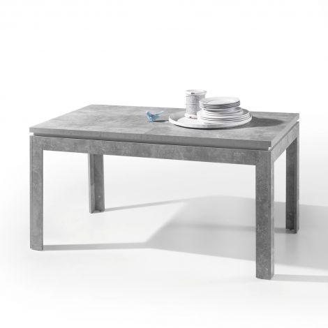 Table à manger extensible Stanno 140/180cm - béton