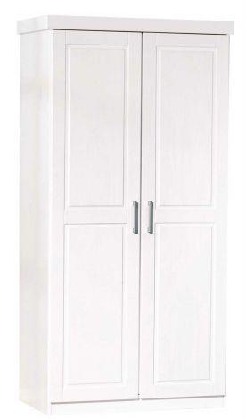 Garde-robe Léon 95cm avec 2 portes - blanc