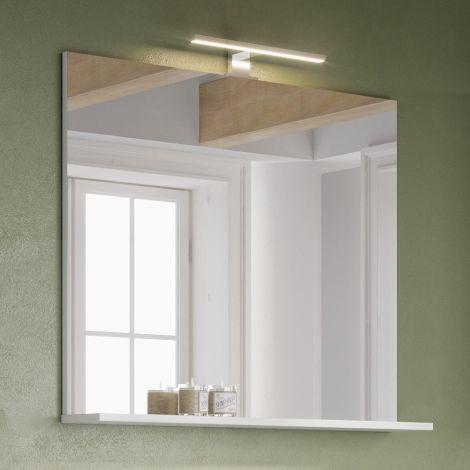 Miroir de salle de bains Artis/Tucker avec éclairage & étagère - blanc