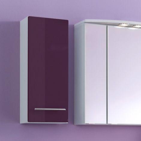 Armoire murale Small 25cm 1 porte - violet brillant