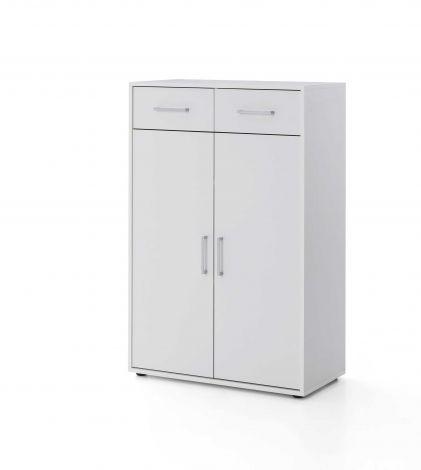 Armoire Maxi-office 2 portes & 2 tiroirs - blanc