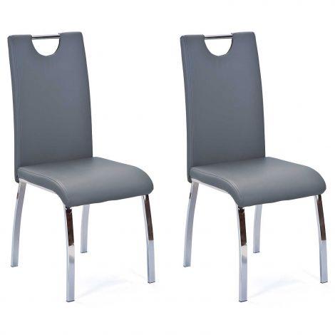 Lot de 2 chaises salle à manger Texas - gris