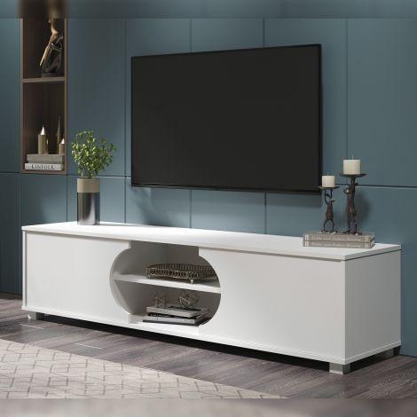 Meuble tv Dost 160cm à 2 portes - blanc