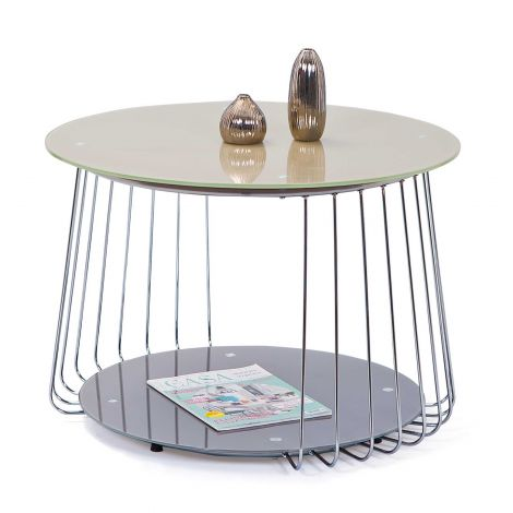 Table d'appoint Riva ø70cm - cappuccino