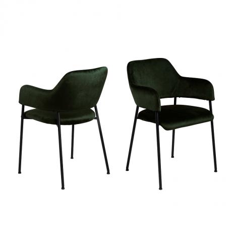 Jeu de 2 chaises Lilou - vert