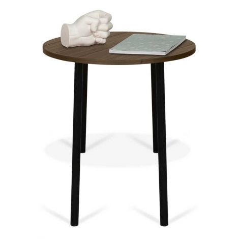 Table d'appoint Ply Ø50cm - noyer