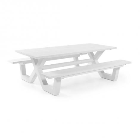 Table de pique-nique Biabou 220x110 - blanc