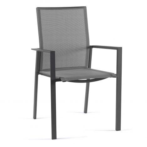 Chaise de jardin Sanne - anthracite/gris argenté