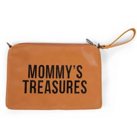 Pochette Mommy similicuir - bruin