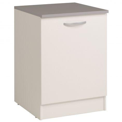 Meuble bas Oke 60 cm avec porte - blanc