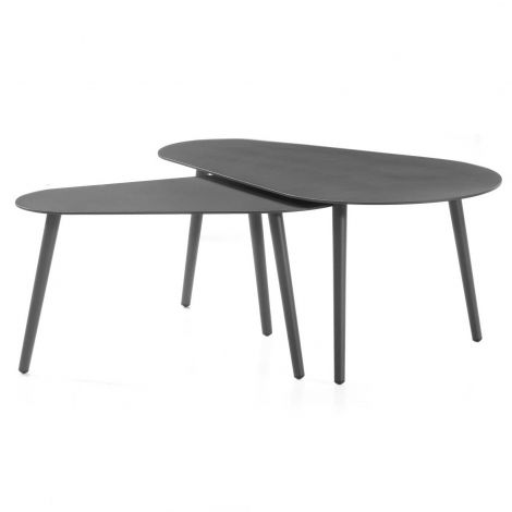 Jeu de 2 tables basses Gabon - anthracite