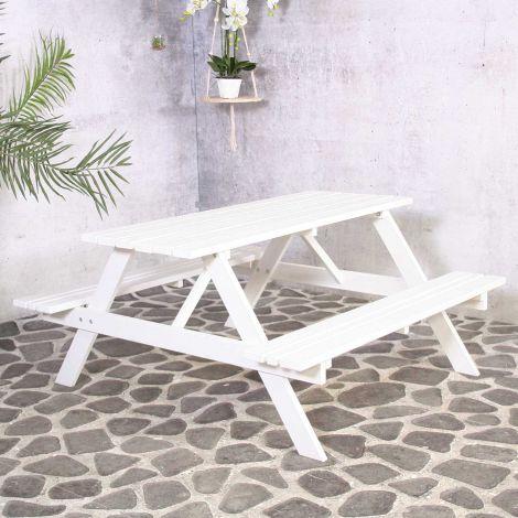 Table de pique-nique Rachel - blanc