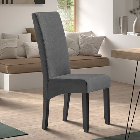 Lot de 2 chaises Joan polyester - anthracite