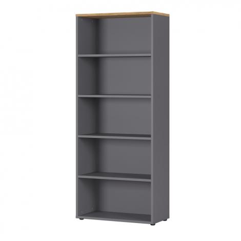 Bibliothèque Osmond 80cm - graphite/chêne