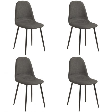 Lot de 4 chaises Lowie
