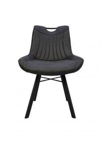 Lot de 2 chaises de salle à manger Detroit avec poignée - gris