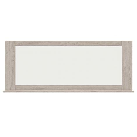 Miroir Bosy avec tablette - chêne gris clair
