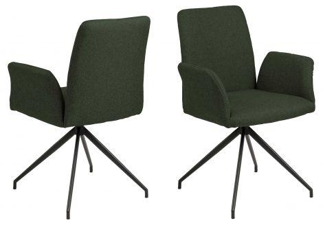Chaise pivotante Robert - vert/noir