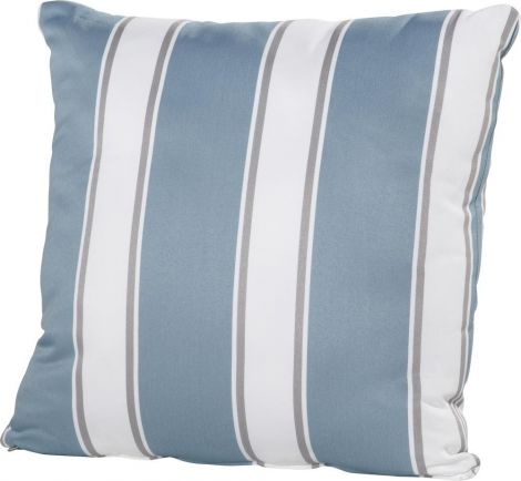 Coussin 30x30 - rayures bleues/blanches