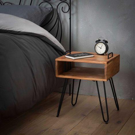 Table d'appoint Quadro bois d'acacia