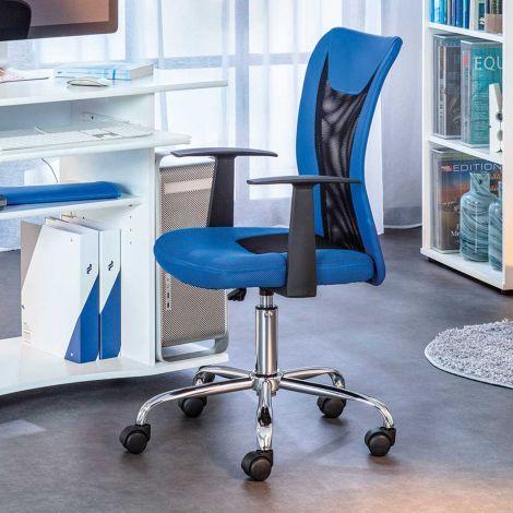 Chaise de bureau Donny - bleu