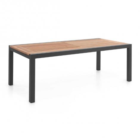 Table de jardin extensible Lugano 220/330 - gris/teck