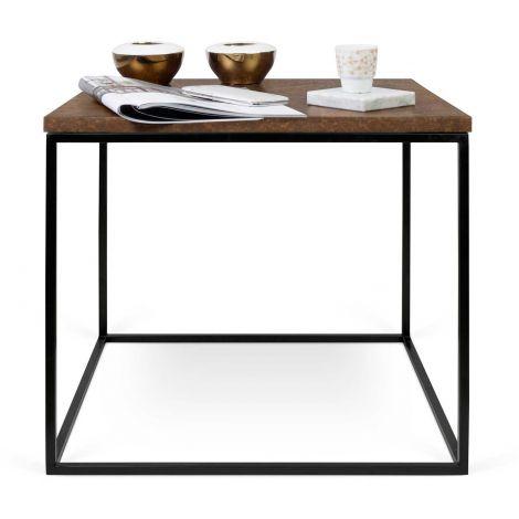 Table d'appoint Gleam 50x50 - rouille/acier