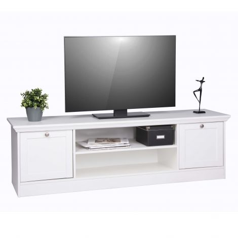 Meuble TV Landwood 160cm - blanc
