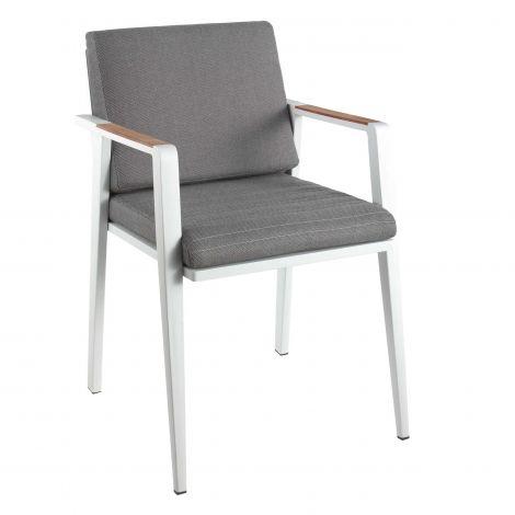 Chaise de jardin Antilles - blanc/gris