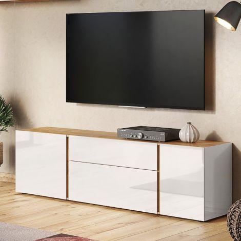 Meuble TV Mussa 180cm - chêne/cachemire