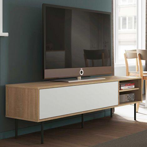 Meuble TV Watt - chêne/blanc