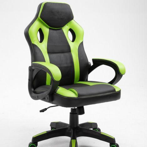Chaise gamer Matt - noir/vert clair