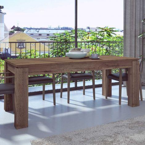 Table à manger extensible Frame - chêne foncé