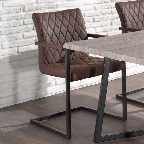 Lot de 2 chaises cantilever Britt - brun