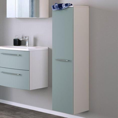 Colonne Gene 30cm 1 porte - blanc/vert