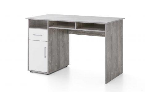 Bureau Maxi-office 125cm - béton/blanc