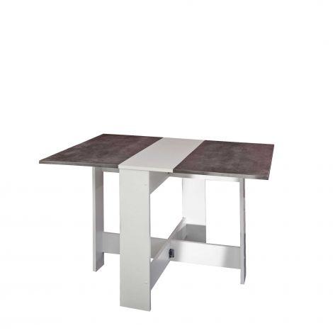 Table à manger Papillon - blanc/béton