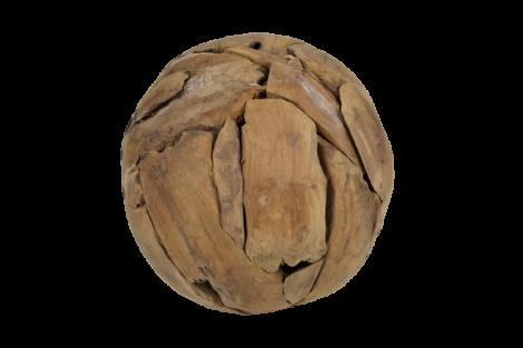 Boule décorative - ø30 cm - teck