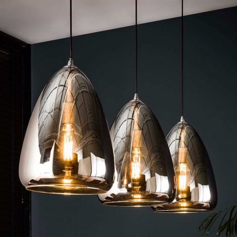 Suspension Sylvie 3 lampes - chrome