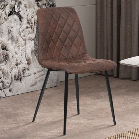 Lot de 2 chaises Maletto - marron