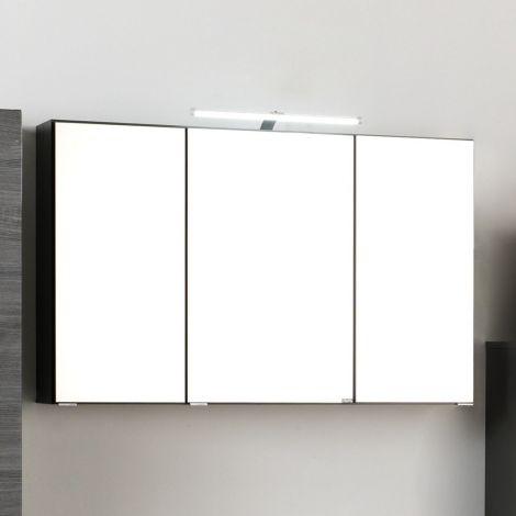 Armoire de toilette Florent 120cm 3 portes & éclairage LED - graphite