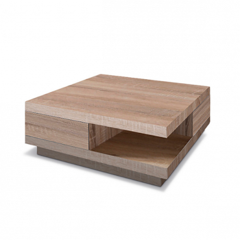 Table basse Dundee 80x80 - sonoma clair