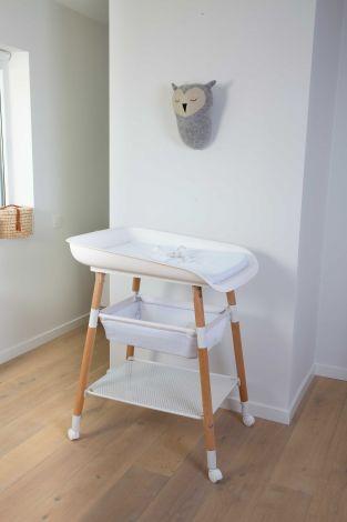 Table à langer Evolux réglable avec matelas à langer - blanc